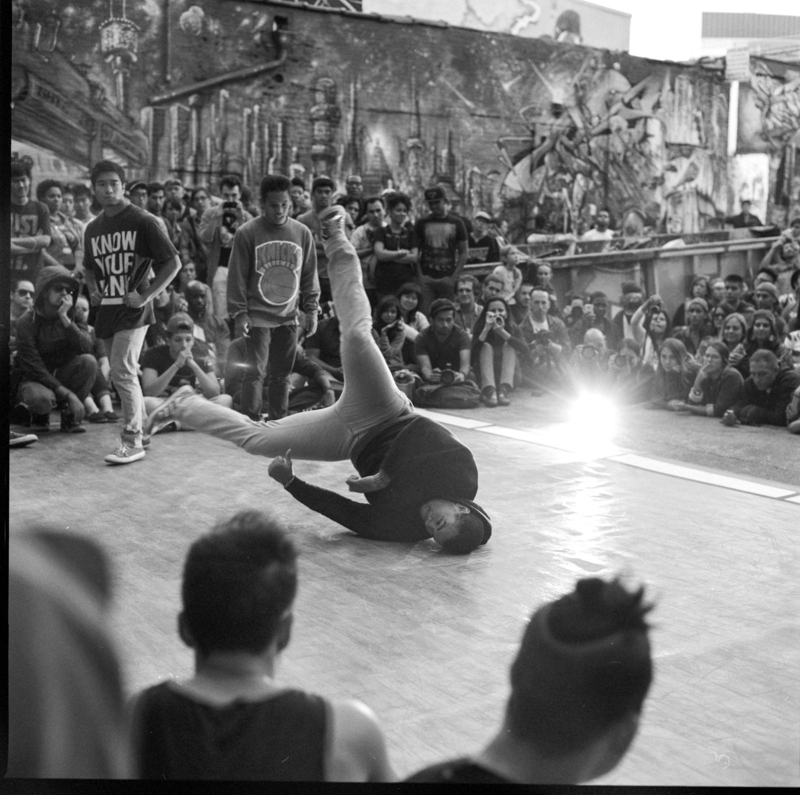 B boys at one of the last 5 Pointz parties in LIC, Queens - Hieroglyphics Magazine
