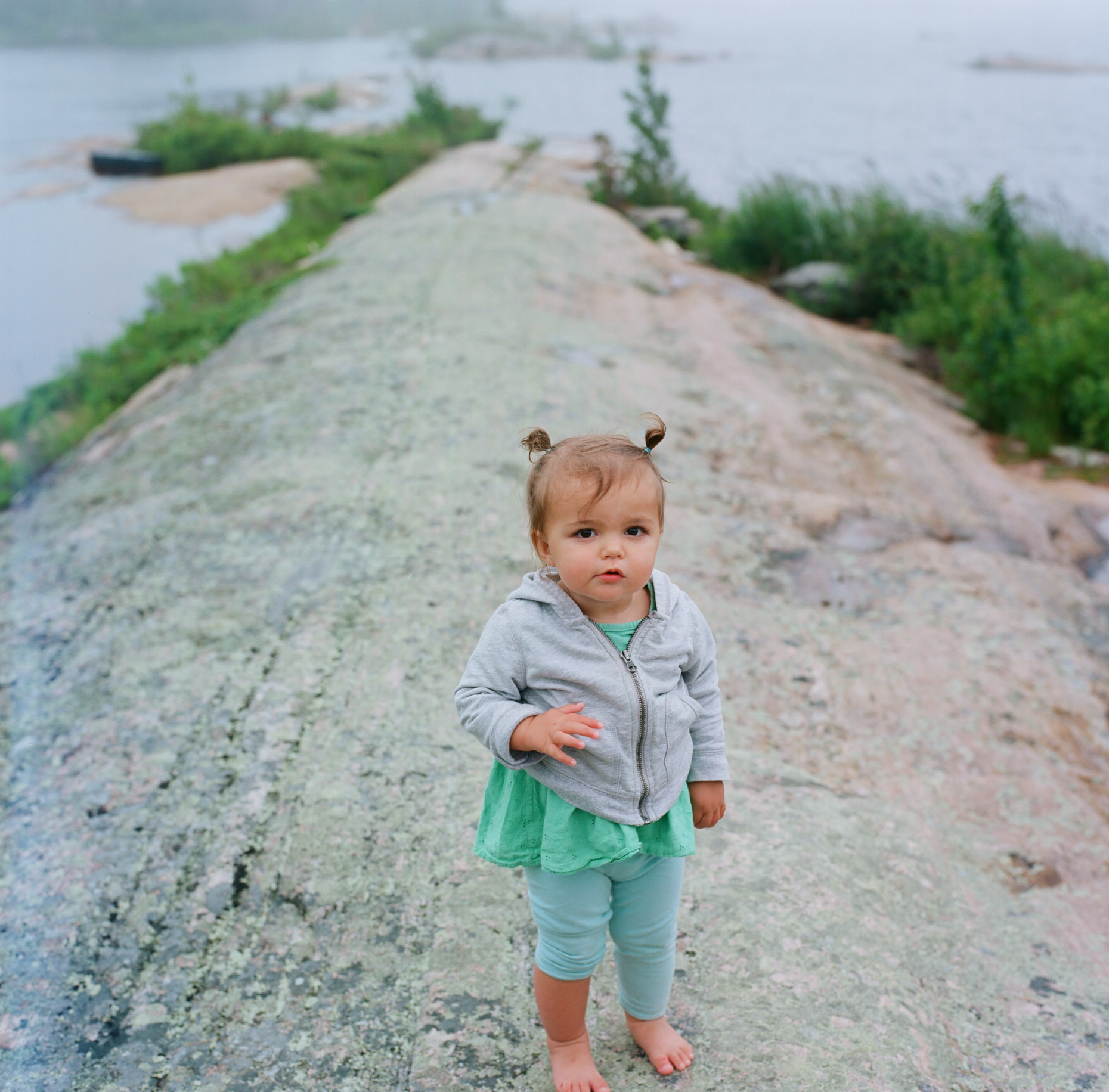 A portrait of baby sabine at Georgian Lake, Canada.