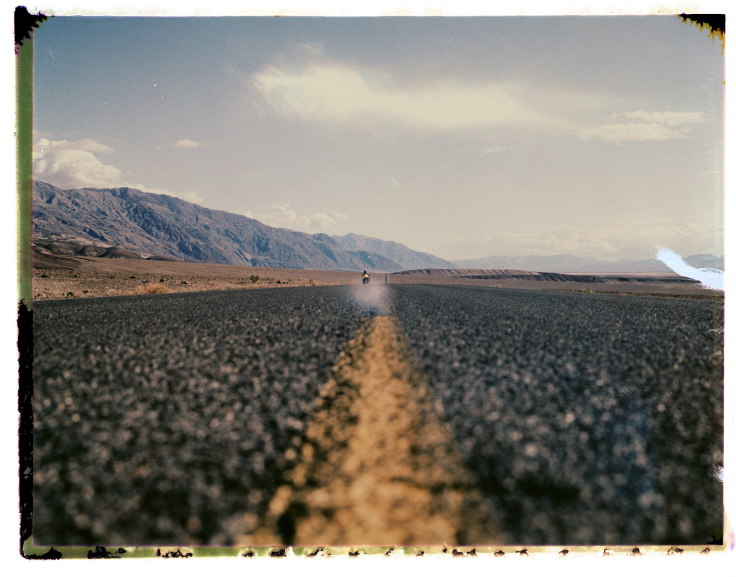 A desert road in Nevada USA